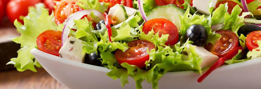 Salade en ligne
